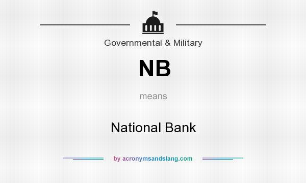 What does NB mean? It stands for National Bank