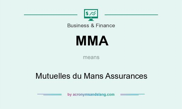 What does MMA mean? It stands for Mutuelles du Mans Assurances