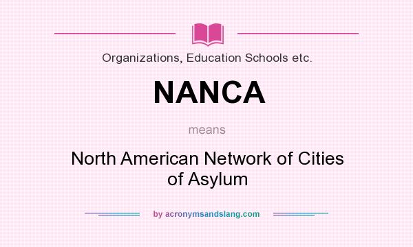 What does NANCA mean? It stands for North American Network of Cities of Asylum