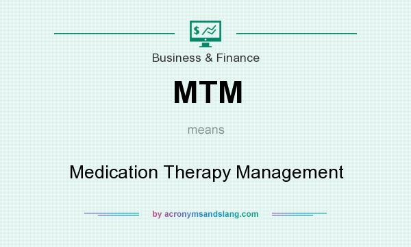 What does MTM mean? It stands for Medication Therapy Management