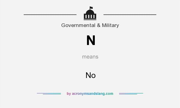 What does N mean? It stands for No