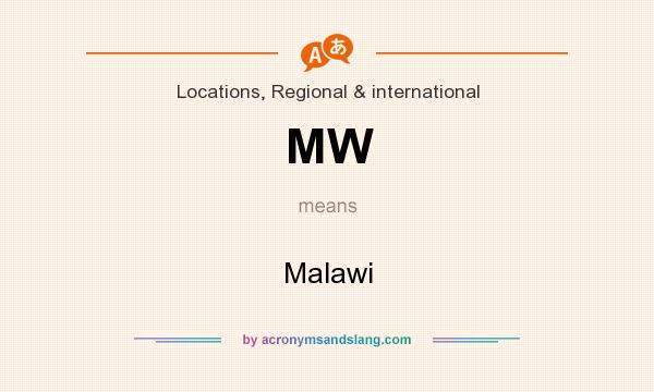 What does MW mean? It stands for Malawi