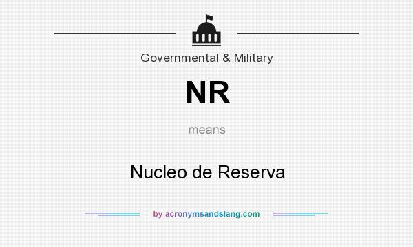 What does NR mean? It stands for Nucleo de Reserva