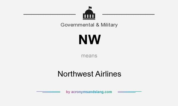 What does NW mean? It stands for Northwest Airlines