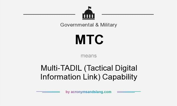 What does MTC mean? It stands for Multi-TADIL (Tactical Digital Information Link) Capability