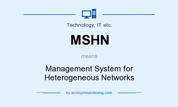 What does MSHN mean? It stands for Management System for Heterogeneous Networks