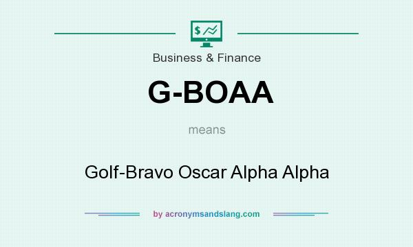 What does G-BOAA mean? It stands for Golf-Bravo Oscar Alpha Alpha