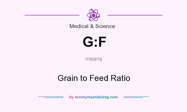 What does G:F mean? It stands for Grain to Feed Ratio