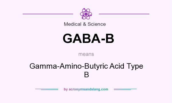 What does GABA-B mean? It stands for Gamma-Amino-Butyric Acid Type B