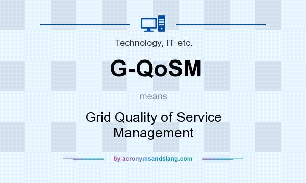 What does G-QoSM mean? It stands for Grid Quality of Service Management