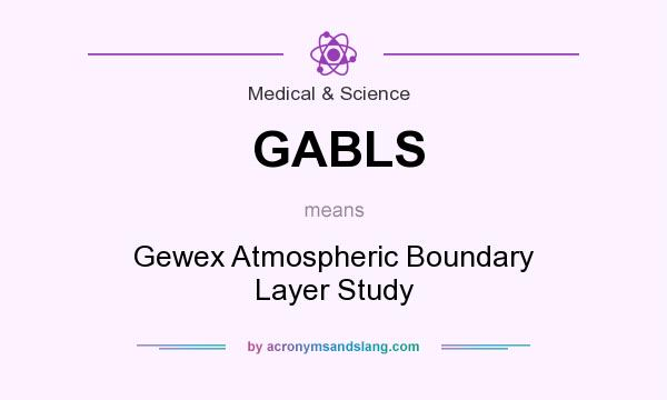 What does GABLS mean? It stands for Gewex Atmospheric Boundary Layer Study