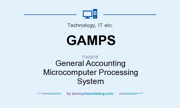 What does GAMPS mean? It stands for General Accounting Microcomputer Processing System