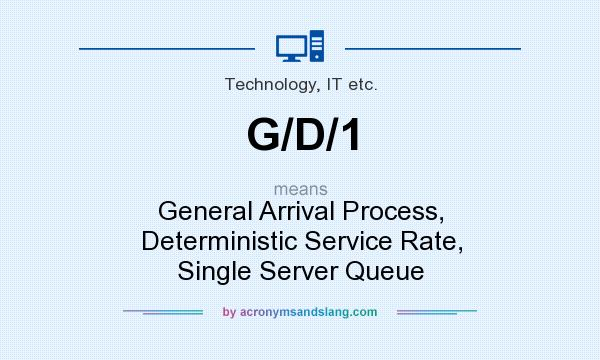 What does G/D/1 mean? It stands for General Arrival Process, Deterministic Service Rate, Single Server Queue