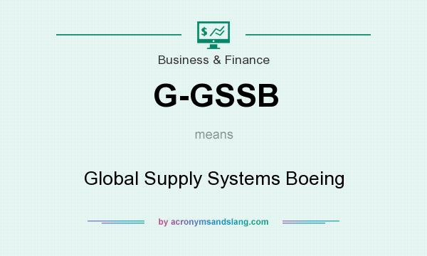 What does G-GSSB mean? It stands for Global Supply Systems Boeing