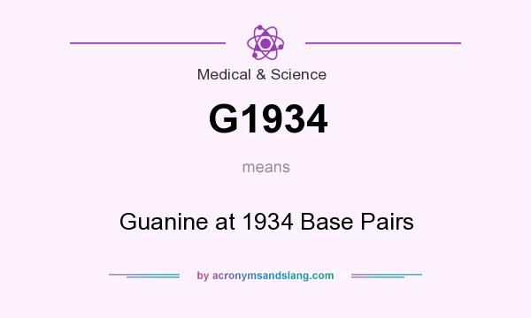 What does G1934 mean? It stands for Guanine at 1934 Base Pairs