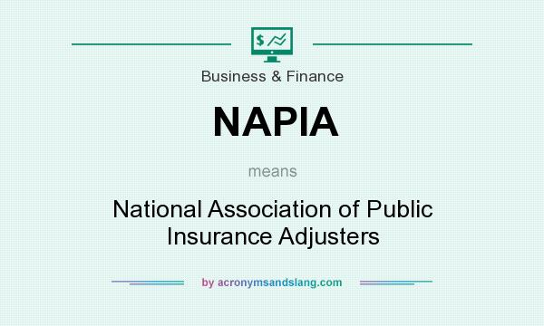 What does NAPIA mean? It stands for National Association of Public Insurance Adjusters