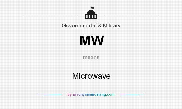 What does MW mean? It stands for Microwave