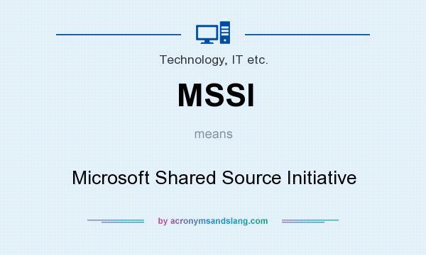 MSSI - Microsoft Shared Source...