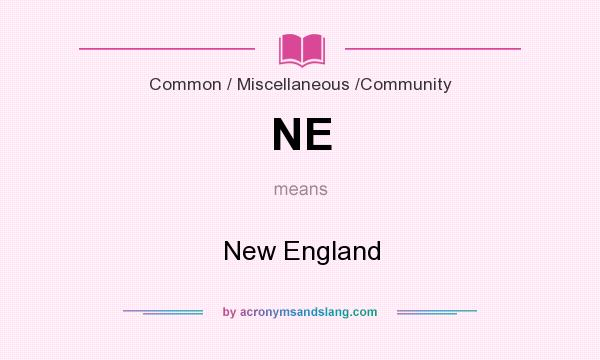 What does NE mean? It stands for New England
