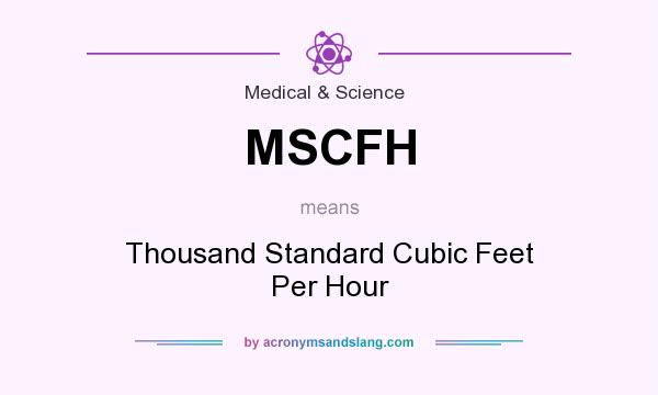 What does MSCFH mean? It stands for Thousand Standard Cubic Feet Per Hour
