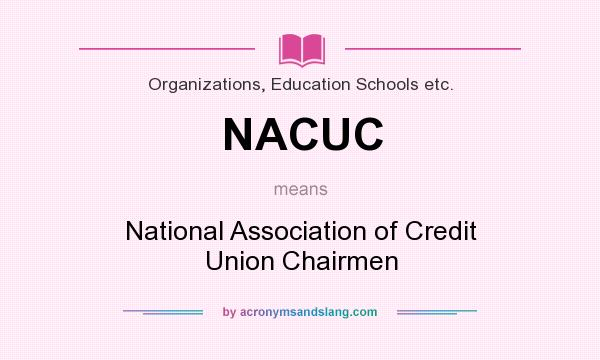 What does NACUC mean? It stands for National Association of Credit Union Chairmen