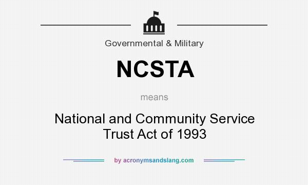 an analysis of the national and community service trust act of 1993 Required community service in high schools and civic engagement the second piece was the national and community trust act of 1993 signed an analysis.