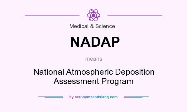 What does NADAP mean? It stands for National Atmospheric Deposition Assessment Program