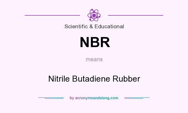 What does NBR mean? It stands for Nitrile Butadiene Rubber