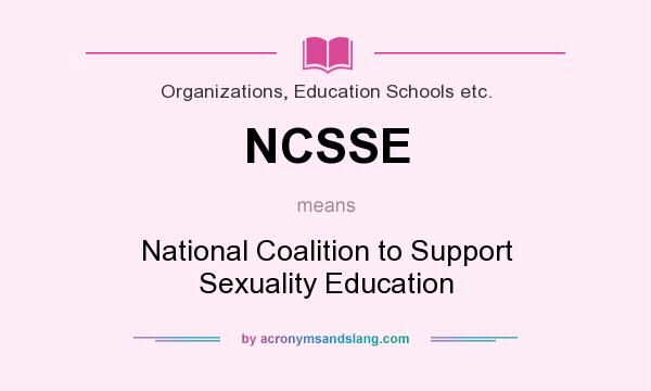 an analysis of the national coalition to support sexuality education