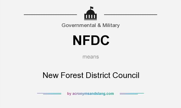 What does NFDC mean? It stands for New Forest District Council