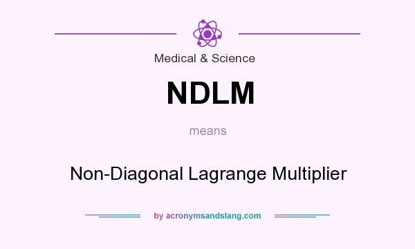 What does NDLM mean? It stands for Non-Diagonal Lagrange Multiplier