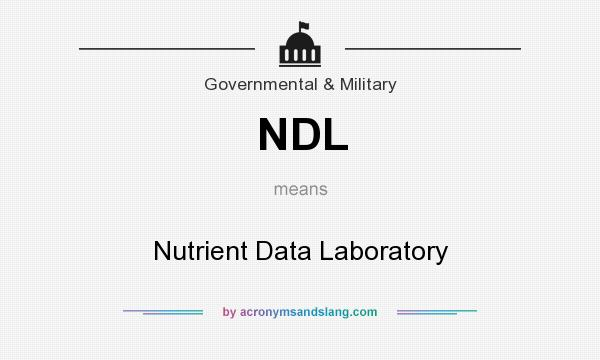 What does NDL mean? It stands for Nutrient Data Laboratory