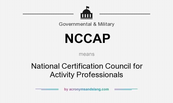NCCAP Certification Process Activity Director - oukas.info