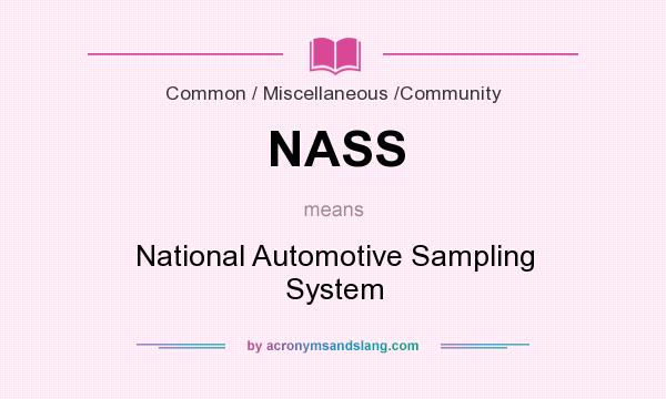 What does NASS mean? It stands for National Automotive Sampling System