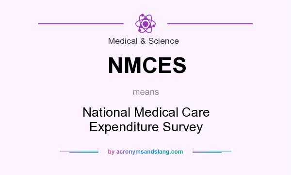 What does NMCES mean? It stands for National Medical Care Expenditure Survey