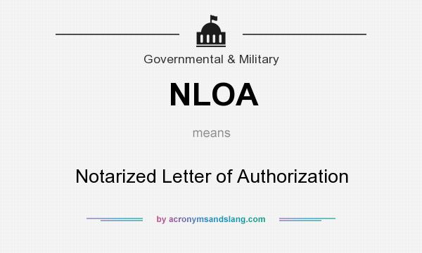 Notarized Letter Of Authorization from acronymsandslang.com