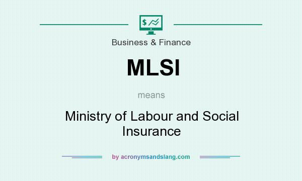 What does MLSI mean? It stands for Ministry of Labour and Social Insurance