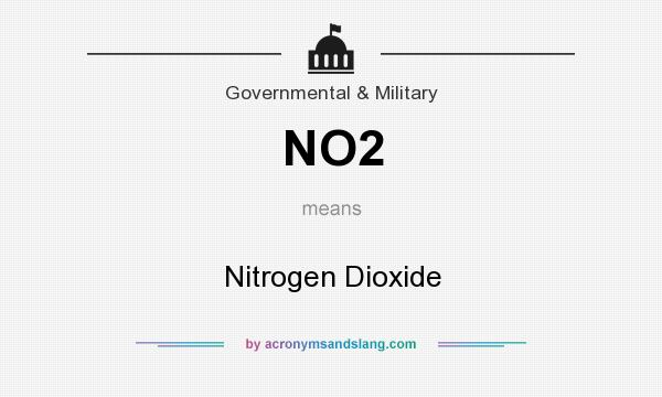 What does NO2 mean? It stands for Nitrogen Dioxide