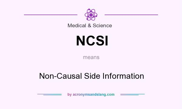 What does NCSI mean? It stands for Non-Causal Side Information