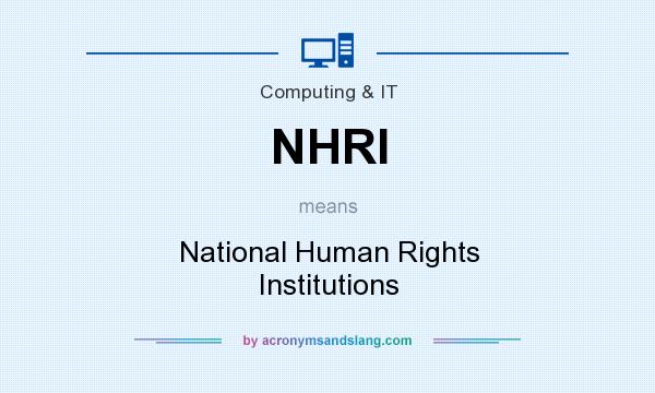 What does NHRI mean? It stands for National Human Rights Institutions