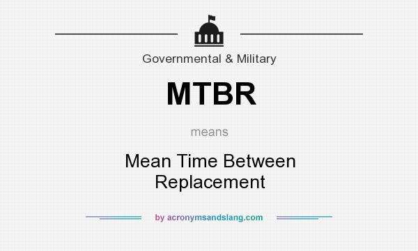 What does MTBR mean? It stands for Mean Time Between Replacement