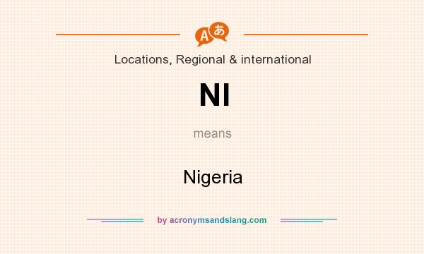 What does NI mean? It stands for Nigeria