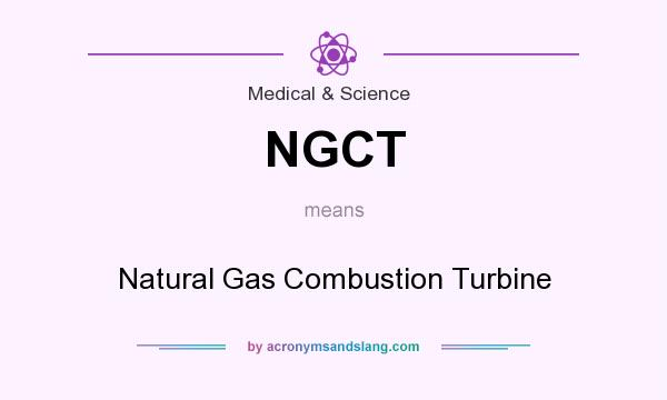 What does NGCT mean? It stands for Natural Gas Combustion Turbine