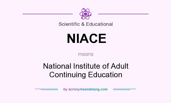 What does NIACE mean? It stands for National Institute of Adult Continuing Education