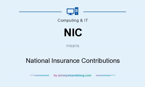 What does NIC mean? It stands for National Insurance Contributions