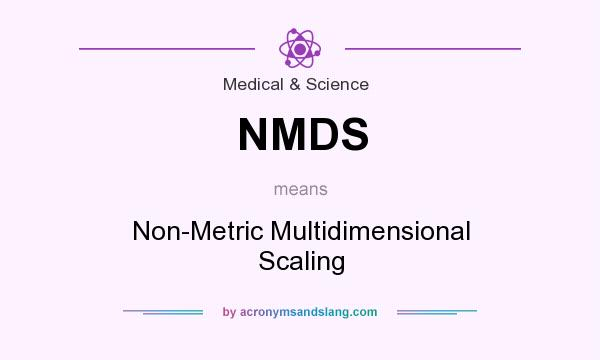 What does NMDS mean? It stands for Non-Metric Multidimensional Scaling