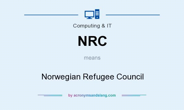 What does NRC mean? It stands for Norwegian Refugee Council