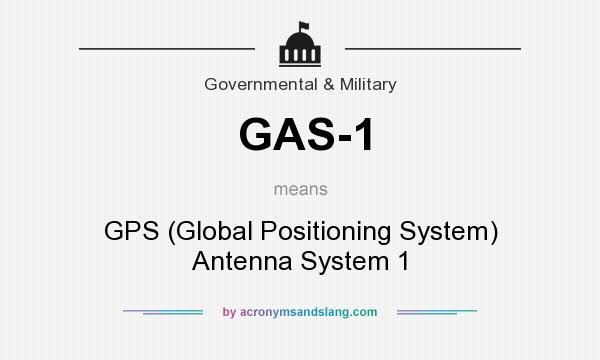 What does GAS-1 mean? - Definition of GAS-1