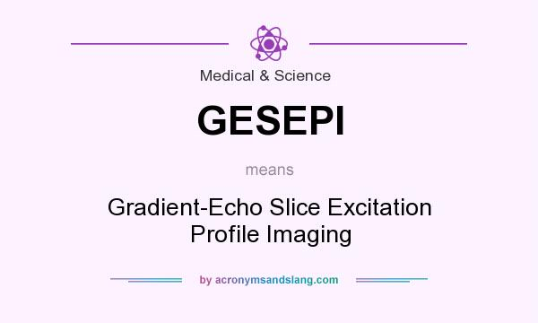 What does GESEPI mean? It stands for Gradient-Echo Slice Excitation Profile Imaging