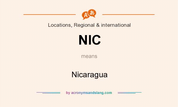 What does NIC mean? It stands for Nicaragua